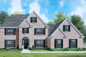 Traditional Exterior - Front Elevation Plan #424-21