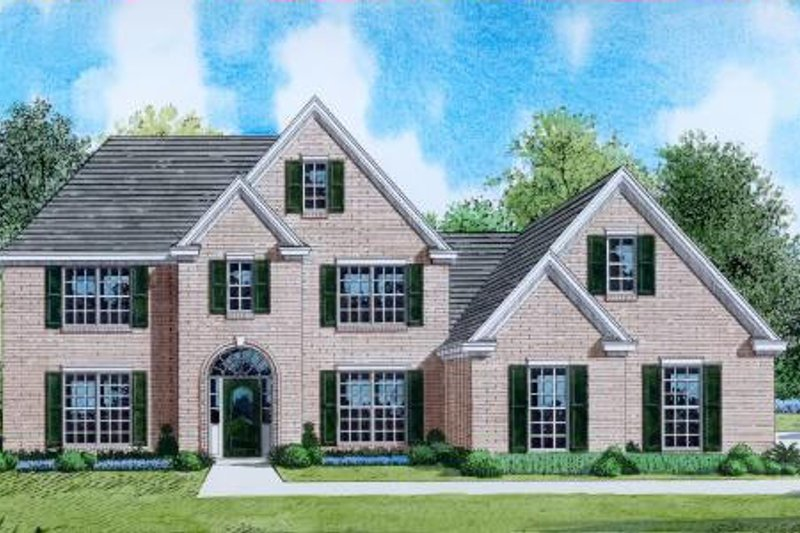 Traditional Style House Plan - 4 Beds 4 Baths 2744 Sq/Ft Plan #424-21