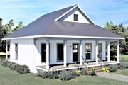 Traditional Style House Plan - 2 Beds 1 Baths 890 Sq/Ft Plan #44-223 Exterior - Front Elevation