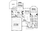 European Style House Plan - 4 Beds 3.5 Baths 3065 Sq/Ft Plan #119-130 Floor Plan - Main Floor
