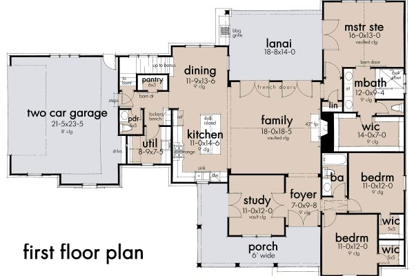 Cottage Floor Plan - Main Floor Plan Plan #120-269