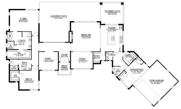 Dream House Plan - Modern Floor Plan - Main Floor Plan #1064-93