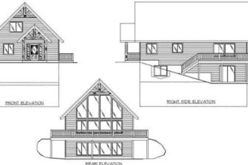 Traditional Exterior - Rear Elevation Plan #117-154 - Houseplans.com