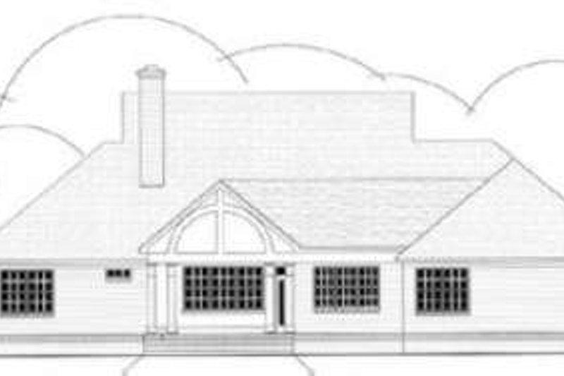 Southern Exterior - Rear Elevation Plan #406-105 - Houseplans.com