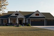 Craftsman Style House Plan - 4 Beds 2.5 Baths 2673 Sq/Ft Plan #1064-12 Exterior - Front Elevation