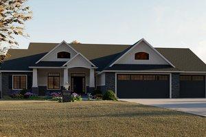 Craftsman Exterior - Front Elevation Plan #1064-12
