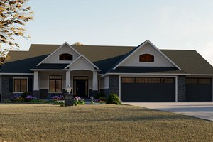 House Plan Design - Craftsman Exterior - Front Elevation Plan #1064-12