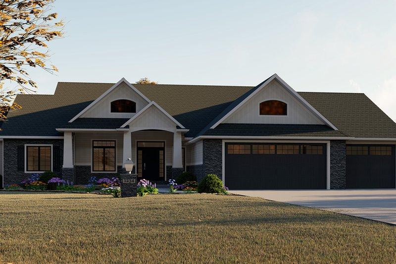House Plan Design - Craftsman Exterior - Front Elevation Plan #1064-12