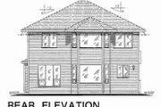 Traditional Style House Plan - 5 Beds 3 Baths 2020 Sq/Ft Plan #18-4259 Exterior - Rear Elevation