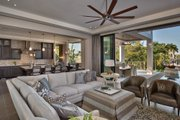 Contemporary Style House Plan - 3 Beds 4 Baths 3507 Sq/Ft Plan #930-20 Interior - Family Room