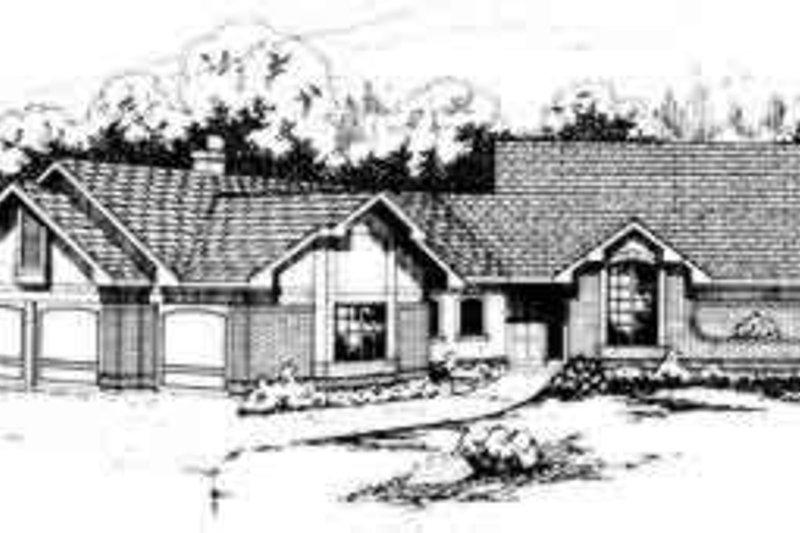 House Design - Ranch Exterior - Front Elevation Plan #124-131