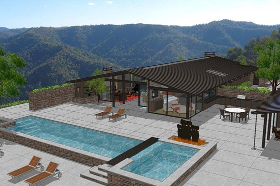 Modern Exterior - Front Elevation Plan #544-3