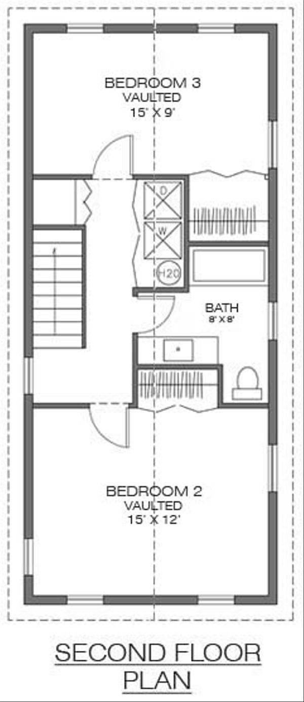 Farmhouse Floor Plan - Upper Floor Plan Plan #486-1