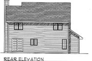 Traditional Style House Plan - 4 Beds 2.5 Baths 1683 Sq/Ft Plan #70-170 Exterior - Rear Elevation