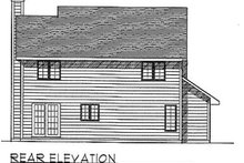 Dream House Plan - Traditional Exterior - Rear Elevation Plan #70-170