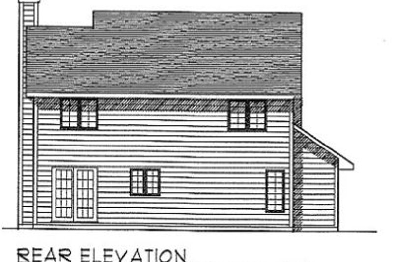 Traditional Exterior - Rear Elevation Plan #70-170 - Houseplans.com