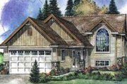 Bungalow Style House Plan - 3 Beds 3 Baths 1351 Sq/Ft Plan #18-9539 Exterior - Front Elevation