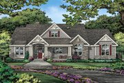 Ranch Style House Plan - 4 Beds 3.1 Baths 2512 Sq/Ft Plan #929-1059 Exterior - Front Elevation