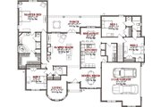 Traditional Style House Plan - 4 Beds 3 Baths 2767 Sq/Ft Plan #63-224 Floor Plan - Main Floor Plan