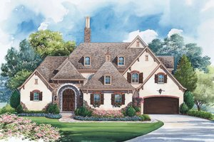House Plan Design - European Exterior - Front Elevation Plan #20-2175