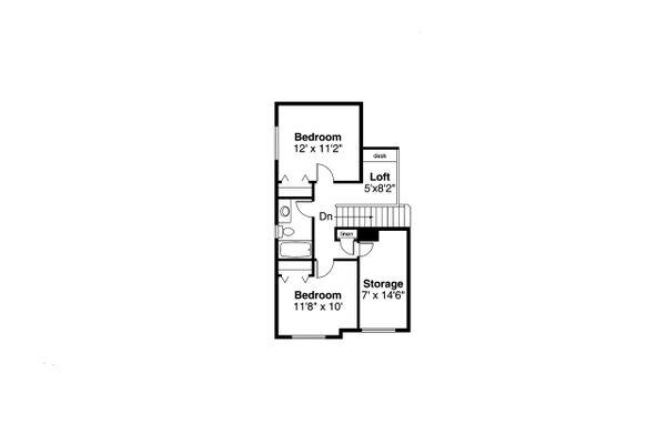 Floor Plan - Upper Floor Plan #124-595
