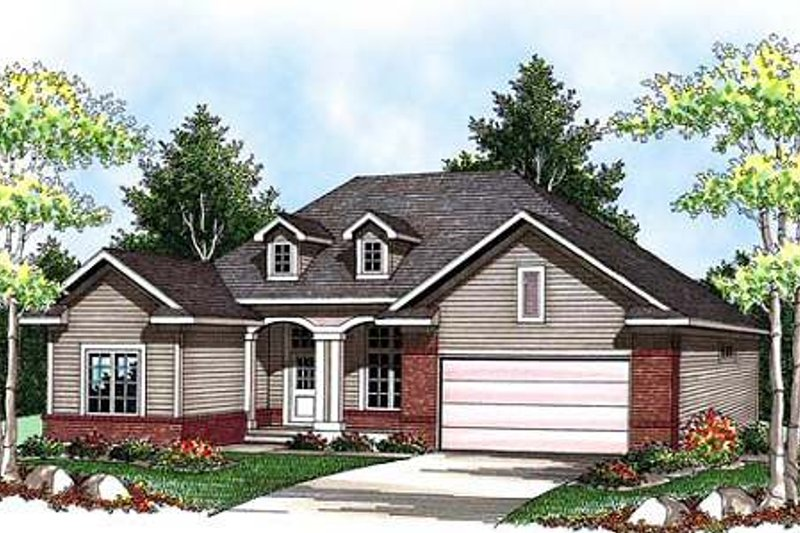 Home Plan - Traditional Exterior - Front Elevation Plan #70-913