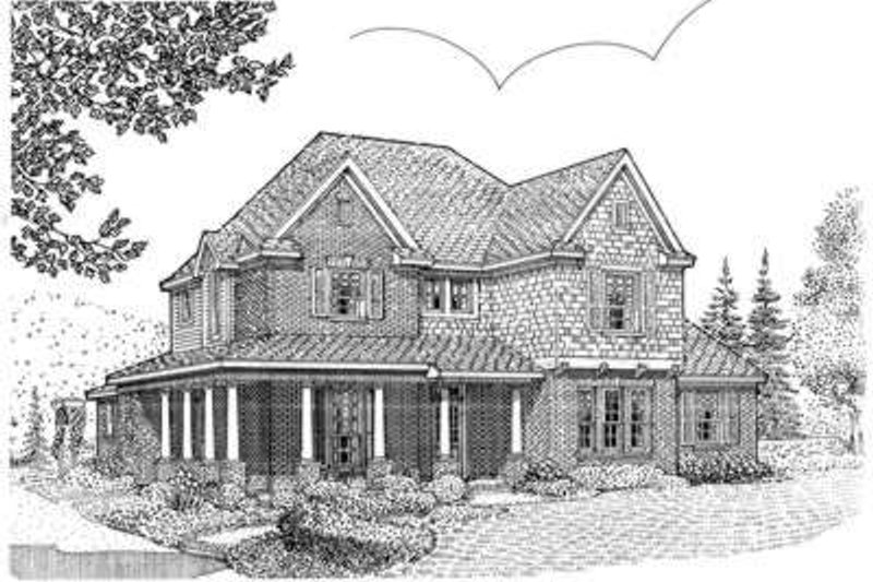 European Exterior - Front Elevation Plan #410-411