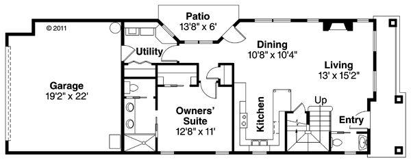 Floor Plan - Main Floor Plan Plan #124-878