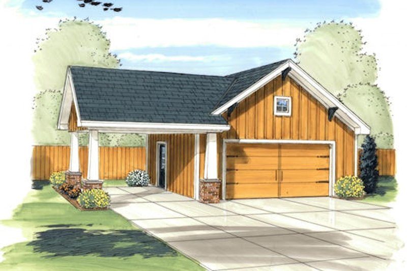 Traditional Exterior - Front Elevation Plan #455-37