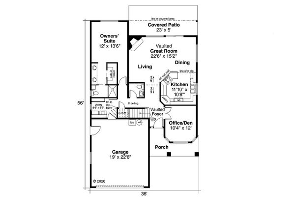 House Plan Design - Floor Plan - Main Floor Plan #124-595