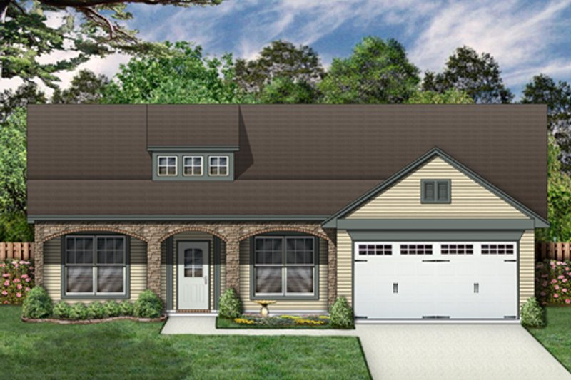 Country Exterior - Front Elevation Plan #84-497 - Houseplans.com