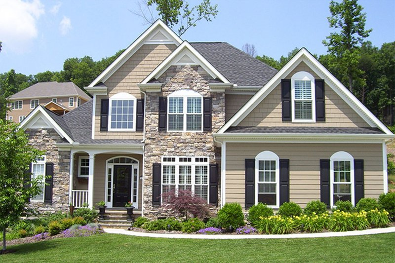 Architectural House Design - Country Exterior - Front Elevation Plan #927-120