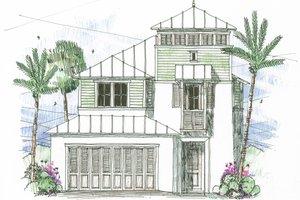 Beach Exterior - Front Elevation Plan #426-12