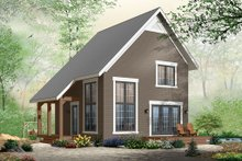Cabin Exterior - Front Elevation Plan #23-2267