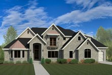 European Exterior - Front Elevation Plan #920-30