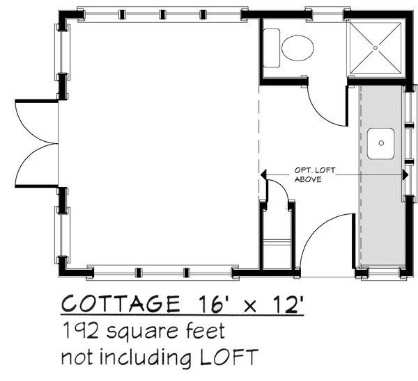 Adobe / Southwestern Floor Plan - Main Floor Plan Plan #917-31