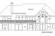Southern Style House Plan - 3 Beds 2.5 Baths 2290 Sq/Ft Plan #56-176 Exterior - Rear Elevation