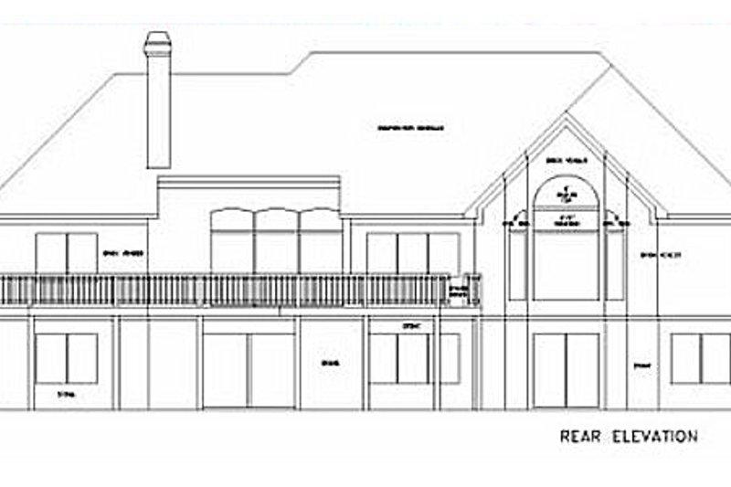 Southern Exterior - Rear Elevation Plan #56-176 - Houseplans.com