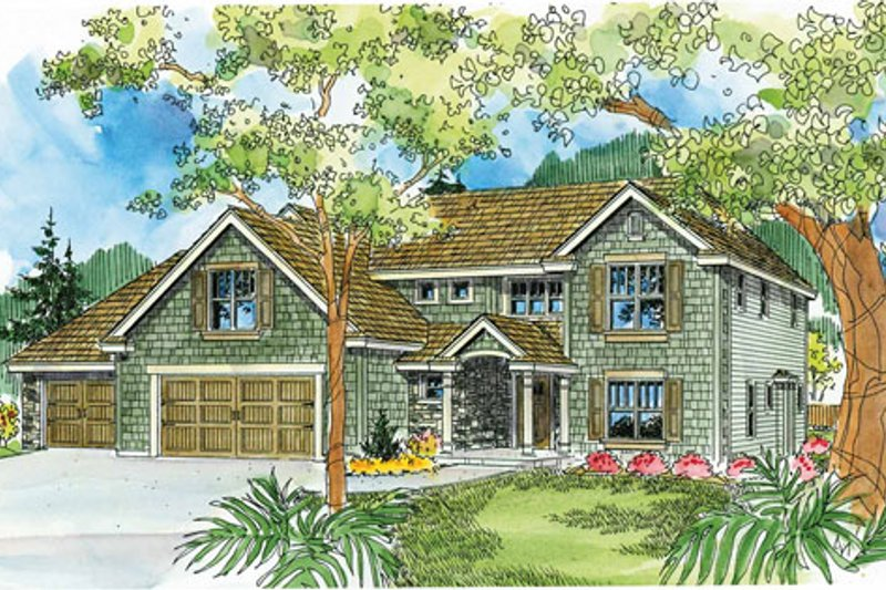 Traditional Exterior - Front Elevation Plan #124-743