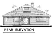 Ranch Style House Plan - 3 Beds 2 Baths 1583 Sq/Ft Plan #18-142 Exterior - Rear Elevation