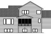 Traditional Style House Plan - 3 Beds 2.5 Baths 2196 Sq/Ft Plan #51-254 Exterior - Rear Elevation