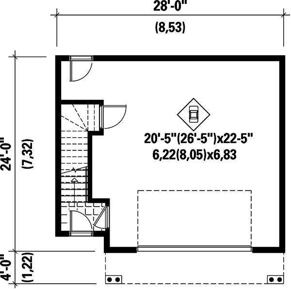 Traditional Floor Plan - Main Floor Plan Plan #25-4755