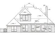 European Style House Plan - 3 Beds 2.5 Baths 1987 Sq/Ft Plan #310-988 Exterior - Rear Elevation