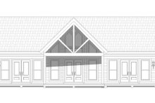 House Plan Design - Cabin Exterior - Rear Elevation Plan #932-56