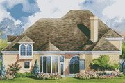 European Style House Plan - 4 Beds 3.5 Baths 3774 Sq/Ft Plan #20-1165 Exterior - Rear Elevation