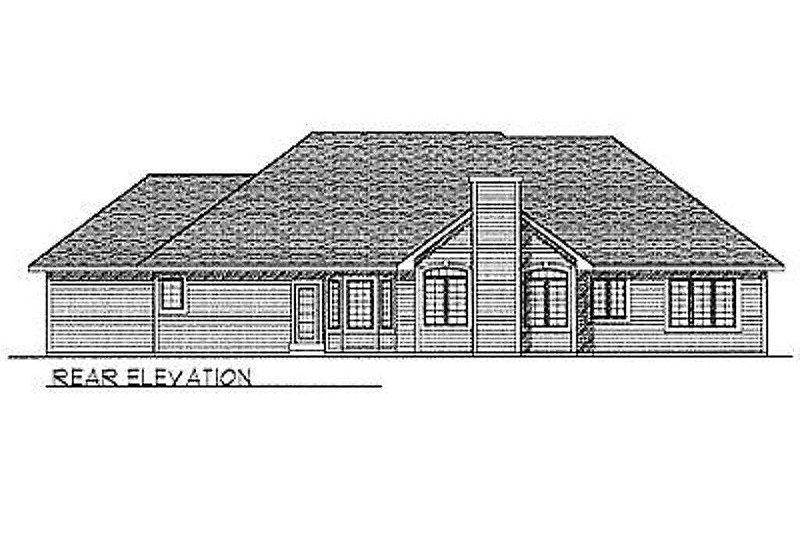 Traditional Exterior - Rear Elevation Plan #70-282 - Houseplans.com