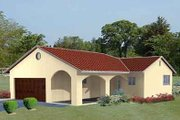 Adobe / Southwestern Style House Plan - 2 Beds 2 Baths 984 Sq/Ft Plan #1-153 Exterior - Front Elevation