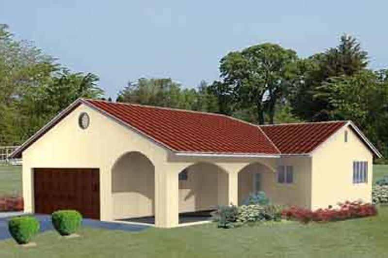 Adobe / Southwestern Style House Plan - 2 Beds 2 Baths 984 Sq/Ft Plan #1-153