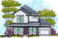 Home Plan - Bungalow Exterior - Front Elevation Plan #70-969