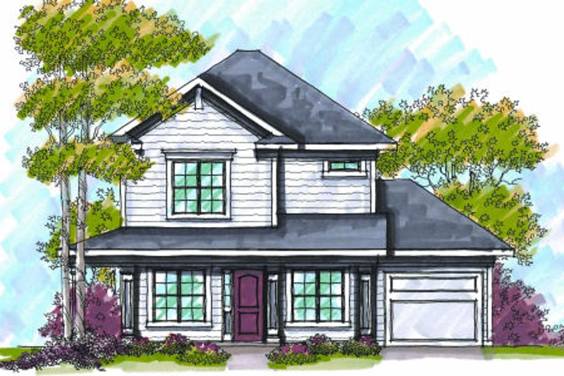 Bungalow Exterior - Front Elevation Plan #70-969